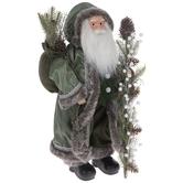 Green & Silver Standing Santa