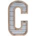 Galvanized Metal Letter Wall Decor - C