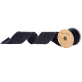 Dark Faux Denim Ribbon - 2 1/2""