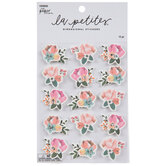 Pink, Orange & Blue Flower 3D Stickers