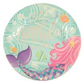 Mermaid Tail Birthday Paper Plates - Large