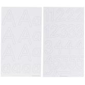 White Alphabet & Number Stickers
