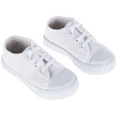 White Canvas Toddler Sneakers