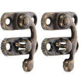 """Antique Brass Plated Swing-Arm Clasps - 1 3/16"""""""