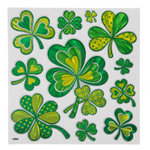 Green Shamrocks Adhesive Wall Decor