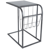 Magazine Rack Metal Accent Table