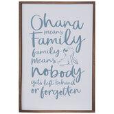 Ohana Means Family Wood Wall Decor