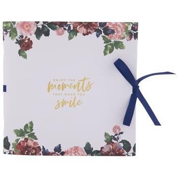 "Enjoy The Moments Floral Scrapbook Album - 8"" x 8"""