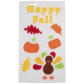 Happy Fall Window Clings