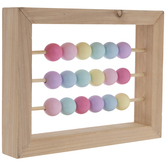 Pastel Sliding Beads Wood Decor