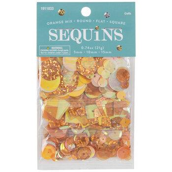 Orange Round, Flat & Square Sequins
