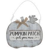 Pumpkin Patch Galvanized Metal Ornament