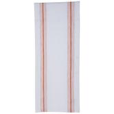 Orange & White Ticking Stripe Table Runner