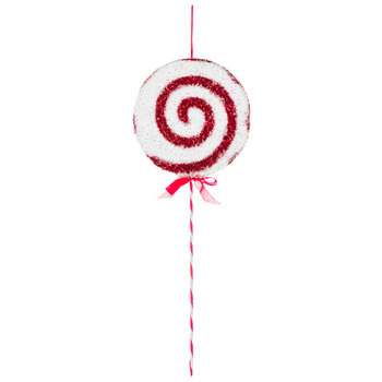 White & Red Swirl Peppermint Pick
