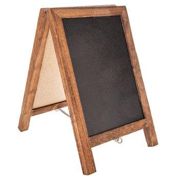Wood Framed Easel Chalkboard & Corkboard