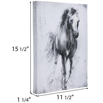 Embellished Horse Canvas Wall Decor