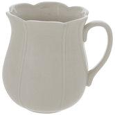 Antique White Scalloped Mug