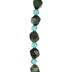 Green Dyed Tiger Eye Glass Bead Strand