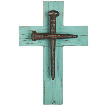 Rusted Nails Wall Cross