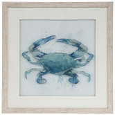 Watercolor Crab Framed Wall Decor