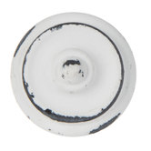 Distressed White Ridged Knob