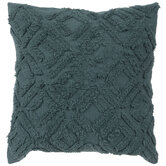 Teal Tuft Patterned Pillow