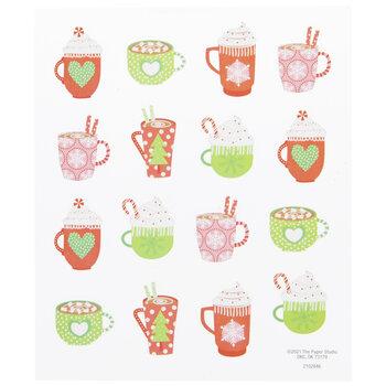 Hot Cocoa Mugs Stickers