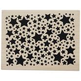 Allover Stars Rubber Stamp