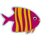 Tropical Fish Painted Wood Shape
