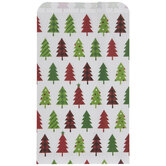 Red & Green Patterned Tree Gift Sacks