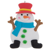 Red Top Hat Snowman Ornament
