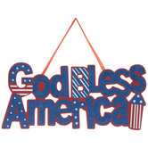 God Bless America Wood Wall Decor