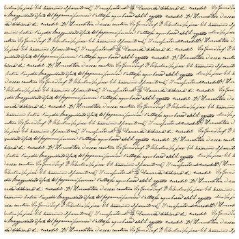 """Cream Script Scrapbook Paper - 12"""" x 12"""""""