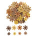 Orange, Yellow & Brown Rhinestone Flower Embellishments