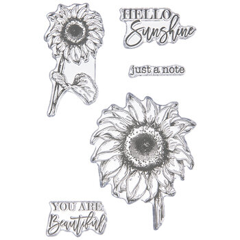 Hello Sunflower Clear Stamps