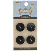 Black & Brown Round Buttons - 18mm