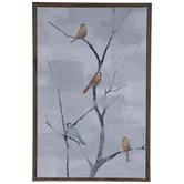 Birds On Barren Tree Wood Wall Decor