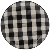 White & Black Buffalo Check Plate