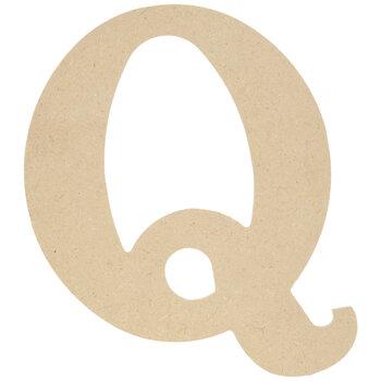 "Wood Letter Q - 9 1/2"""