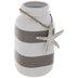 White & Gray Striped Starfish Jar