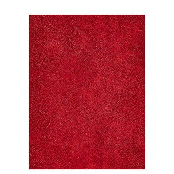 "Red Glimmer Felt Sheet - 9"" x 12"""