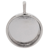 Circle Pendant Bezels - 19mm