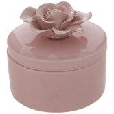 Pink Rose Round Jewelry Box