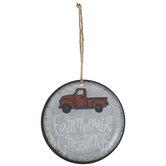 Farmhouse Greetings Plate Ornament