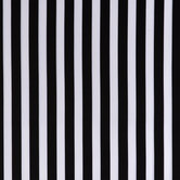 Black & White Striped Cotton Apparel Fabric
