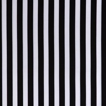 Black & White Striped Cotton Apparel Fabric