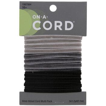 Light Gray, Gray & Black Velvet Cord