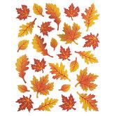 Metallic & Glitter Leaf Wall Adhesives