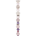 Pink Ombre Glass Pearl & Crystal Bead Strand