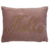 Pink & Gold Hello Lumbar Pillow